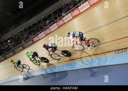 London, UK. 3. Dezember 2016. Lee Valley VeloPark, London, UK. 3. Dezember-2016.Revolution-Track-Serie, Champions - Stockfoto