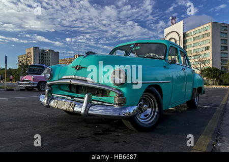 Plymouth-Oldtimer in Havanna - Stockfoto