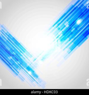 Blaue abstrakte geraden Hintergrund, Lager Vektor - Stockfoto