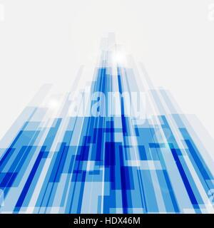 Perspektive blaue abstrakte geraden Hintergrund, Lager Vektor - Stockfoto