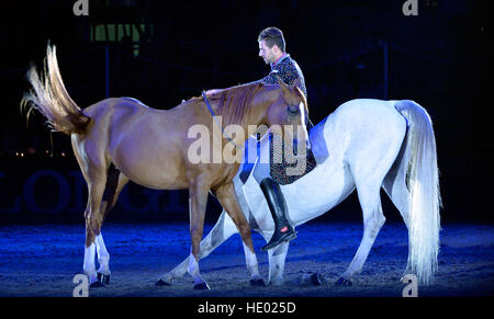 London, UK. 15. Dezember 2016. Olympia London International Horse Show in Grand Hall Olympia London, UK. 14. Dezember - Stockfoto