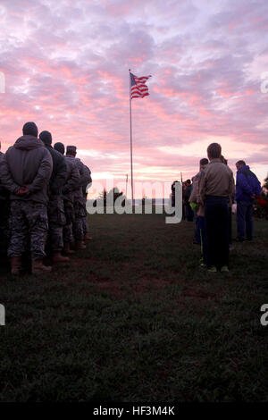 US-Armeesoldaten von der South Dakota National Guard Akku B, 1. Bataillon 147. Feldartillerie und Pfadfinder aus - Stockfoto