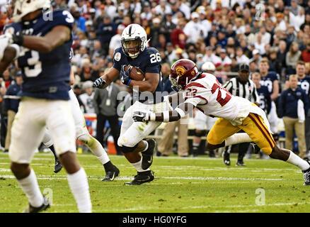 Pasadena, Kalifornien, USA. 2. Januar 2017. Running Back Saquon Barkley von der Penn State Nittany Lions in Aktion - Stockfoto