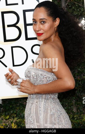 Beverly Hills, uns. 8. Januar 2017. Tracee Ellis Ross kommt bei der 74. Annual Golden Globe Awards, Golden Globes - Stockfoto