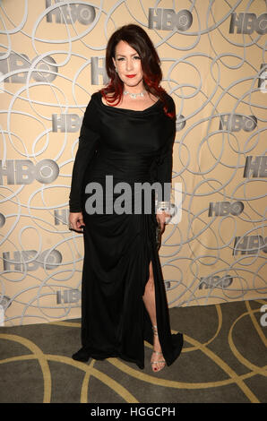 Los Angeles, Ca, USA. 8. Januar 2017. Joely Fisher bei HBO offizielle Golden Globe Awards nach Party anreisen bei - Stockfoto