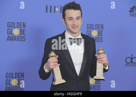 Hollywood, Kalifornien, USA. 8. Januar 2017. I15874CHW.74th Annual Golden Awards - Presseraum. Das Beverly Hilton - Stockfoto