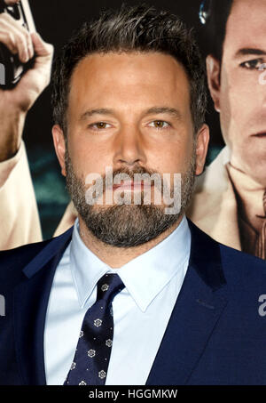 "Hollywood, USA. 9. Januar 2017. Ben Affleck an der Los-Angeles-premiere von ""Live By Night"" in der TCL Chinese Theatre - Stockfoto"