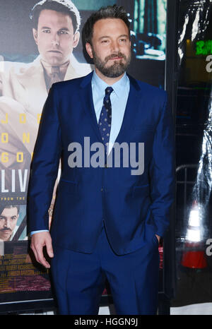 Los Angeles, USA. 9. Januar 2017. Ben Affleck 069 Ankunft bei der Live By Night-Premiere auf der TCL Chinese Theatre - Stockfoto