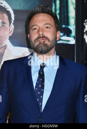 Los Angeles, USA. 9. Januar 2017. Ben Affleck 061 Live By Night-Premiere auf der TCL Chinese Theatre in Los Angeles - Stockfoto
