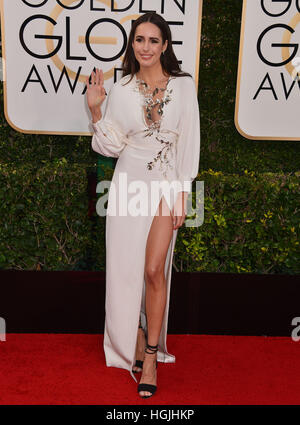 Los Angeles, USA. 8. Januar 2017. Louise Roe 74. Annual Golden Globe Awards im Beverly Hilton in Los Angeles angekommen. - Stockfoto