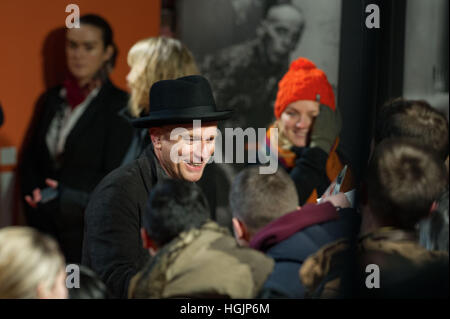 Edinburgh, UK. 22. Januar 2017. T2-Weltpremiere auf Fountain Park. Ewan McGregor. Bildnachweis: Steven Scott Taylor/Alamy - Stockfoto