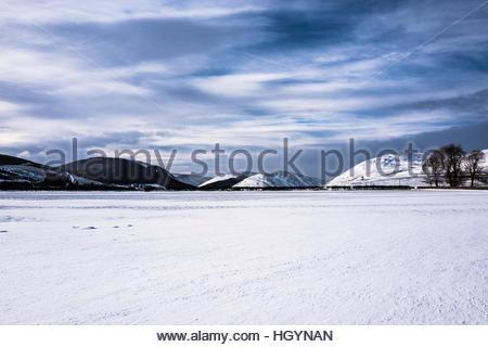 Dryhope, Schafgarbe, Selkirk, Scottish Borders, UK. 13. Januar 2017. Blick nach Westen in Richtung der Hügel rund - Stockfoto