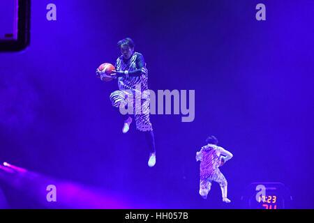 Tokio, Japan. 15. Januar 2017. Daisuke Nakata Basketball: B.LEAGUE All Star Game 2017 match zwischen B.Black 117 - Stockfoto