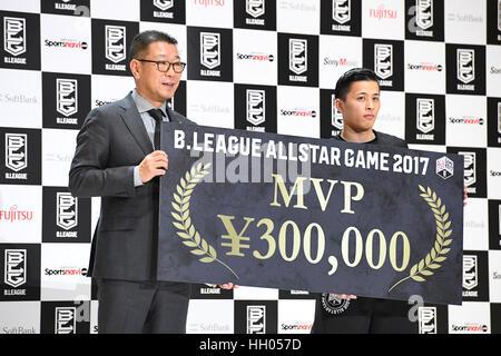 Tokio, Japan. 15. Januar 2017. (L-R) Masaaki Okawa, Yuki Togashi (Jets) Basketball: B.LEAGUE All Star Game 2017 - Stockfoto