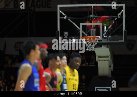 Tokio, Japan. 15. Januar 2017. Gesamtansicht Basketball: B.LEAGUE All Star Spiel 2017 Dunk Contest am 1. Yoyogi - Stockfoto
