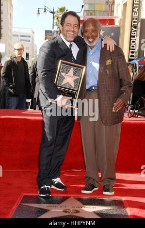 Los Angeles, USA. 19. Januar 2017. Brett Ratner, Clarence Avant bei der Induktion Zeremonie für seinen Stern auf - Stockfoto