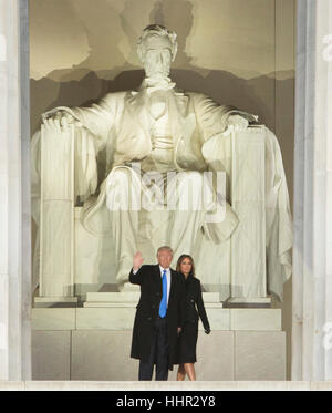 Arlington, USA. 19. Januar 2017. Gewählter Präsident der Vereinigten Staaten Donald J. Trump und Elect FIRST LADY - Stockfoto