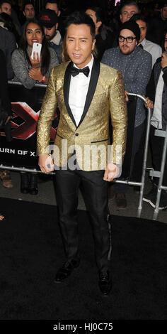 """Hollywood, USA. 19. Januar 2017. Schauspieler Donnie Yen in der """"xXx - Return of Xander Cage"""" Premiere bei dem TCL - Stockfoto"""