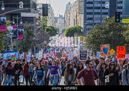 Los Angeles, Kalifornien, USA. 21. Januar 2017. Womens März, Los Angeles, 21. Januar 2017, California Kredit: Bürger - Stockfoto