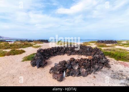 Orzola, Haria, Lanzarote, Kanarische Inseln, Spanien - Stockfoto