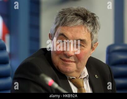 Moskau, Russland. 27. Januar 2017. Lev Zelenyi (Zelyony), Direktor der russischen Akademie der Wissenschaften (RAS) - Stockfoto