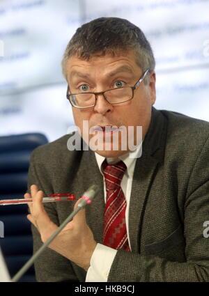 Moskau, Russland. 27. Januar 2017. Ciaran Devane, Generaldirektor des British Council, auf einer Pressekonferenz - Stockfoto