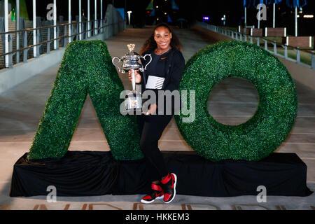 Melbourne, Australien. 29. Januar 2017. Serena Williams aus den USA gewann ihren 23. Grand-Slam-Titel bei den Australian - Stockfoto