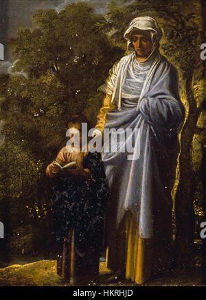 Adam Elsheimer - die Jungfrau Maria und St. Anne - Stockfoto