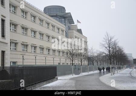Berlin, Deutschland. 31. Januar 2017. US-Botschaft in Berlin in der Zeit des Trump Reisen verbieten Credit: Markku - Stockfoto