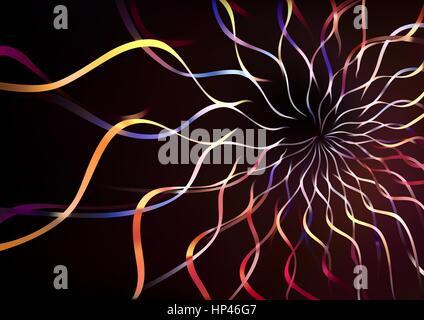 Abstrakte bunte Wellen Hintergrund - Stockfoto
