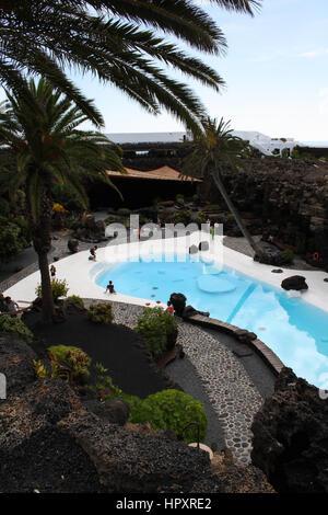 18. September 2012, Kultur Haria, Las Palmas, Lanzarote, Spanien - Jameos del Agua, einem natürlichen Raum und Kunst - Stockfoto