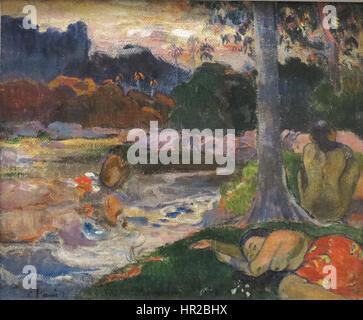 Paul Gauguin (1848-1903) - Schüler-Darlehen anonym zu Honolulu Academy of Arts - Stockfoto