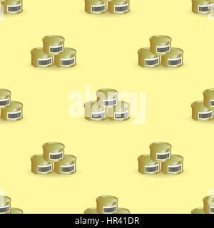 Metalldosen nahtlose Muster - Stockfoto