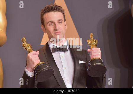Hollywood, CA. 26 Feb, 2017. justin Hurwitz, an der 89. jährlichen Academy Awards Presse im Hollywood & Highland - Stockfoto