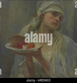 Alfons Mucha-24.7.1860-14.7.1939 - Samaritanka - Stockfoto