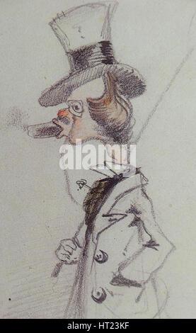 Dandy mit einer Zigarre (Dandy au Boisson), ca 1857. Künstler: Monet, Claude (1840-1926) - Stockfoto