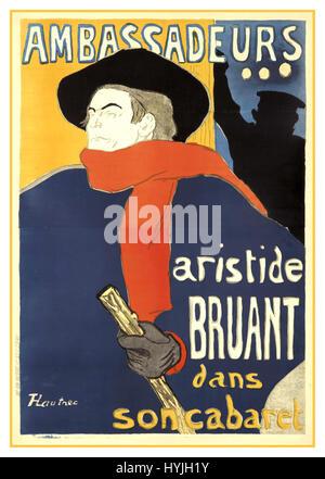 Ambassadeurs aus dem 19. Jahrhundert Malerei des renommierten französischen Künstlers Toulouse-Lautrec - Stockfoto