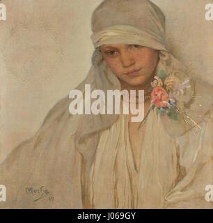 Alfons Mucha (1860-1939) - Nevěsta - Stockfoto
