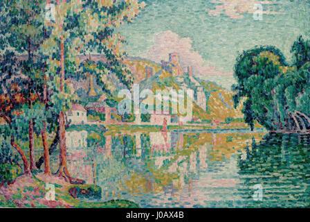 Paul Signac (1863 Paris 1935), Les Andelys. Château-Gaillard. 1921 - Stockfoto