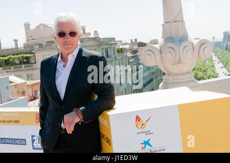 Barcelona, Spanien. 21. April 2017. Der amerikanische Schauspieler Richard Gere und Filmregisseur Joseph Cedar öffnet - Stockfoto