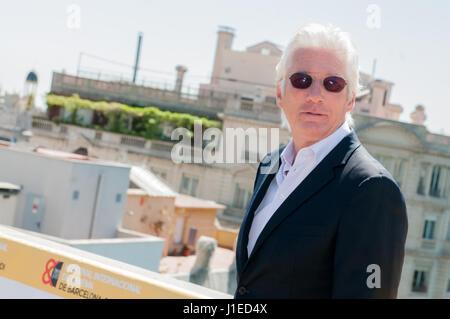 Der amerikanische Schauspieler Richard Gere und Filmregisseur Joseph Cedar öffnet das erste Filmfestival Barcelona - Stockfoto
