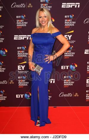 London, Großbritannien. 27. April 2017. Vereinigtes Königreich: Gail Emms besucht den BT Sport Industry Awards in - Stockfoto