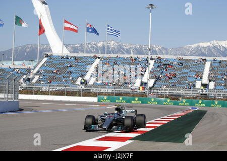 Sotschi, Russland. 28. April 2017. 28.04.2017, Sochi Autodrom, Sotschi, VTB russischen GRAND PRIX Formel 1, 28.04. - Stockfoto
