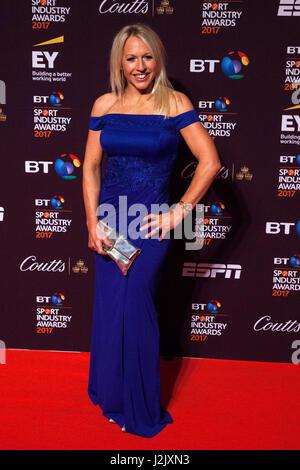 London, UK. 27. April 2017. Gail Emms besucht den 16. BT Sport Industry Awards am Battersea Evolution, Battersea - Stockfoto