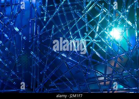 Makroaufnahme einer transparent strukturierten Hintergrund mit Farbe Lichter beleuchtet - Stockfoto
