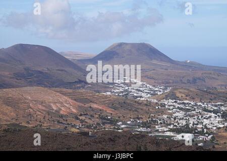 Blick über den Norden von Lanzarote, Kanarische Inseln, Spanien - Stockfoto