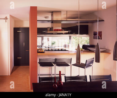 innen gedreht k che offen lebenden viertel fenster treppen flach wohnen innen detail. Black Bedroom Furniture Sets. Home Design Ideas
