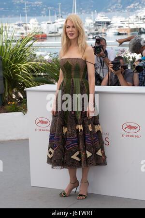 """Cannes, Frankreich. 22. Mai 2017. Nicole Kidman bei den Fototermin für """"The Killing einen Heiligen Hirsch"""" auf der - Stockfoto"""