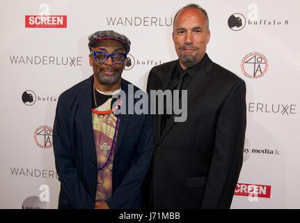 Cannes, Frankreich. 22. Mai 2017. Cannes, Frankreich - 22. Mai 2017: Cannes Film Festival Wanderluxe Gala mit Spike - Stockfoto