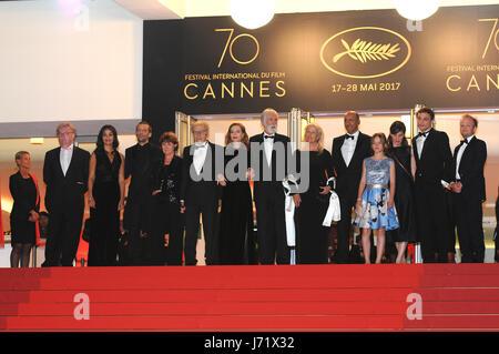 Cannes, Frankreich. 22. Mai 2017. Cannes Happy-End roten Teppich während der 70. Cannes Filmfestival 2017. Bildnachweis: - Stockfoto